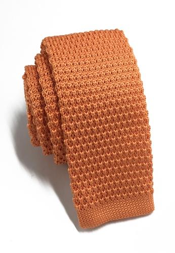 Splice Cufflinks Interlace Series Apricot Knitted Tie SP744AC83KTKSG_1