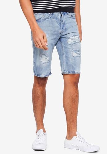 Cotton On 藍色 牛仔刷破短褲 1792BAA52E1CA5GS_1