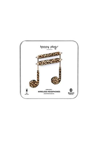 happy plugs black and brown Happy Plugs Wireless II - Leopard C03E7AC502F4B8GS_1