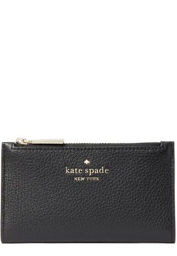 Kate Spade black Kate Spade Leila Small Slim Bifold Wallet in Black AC8F4AC30815FFGS_1