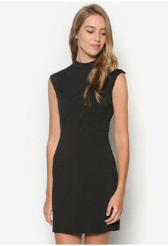Collection High Neck Sheath Dress