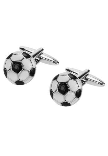 CUFF IT black and white Football Cufflinks D223CACE19BF57GS_1