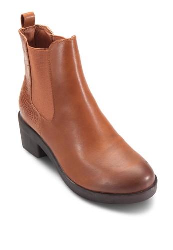 側彈性帶粗跟切爾西esprit hk短靴, 女鞋, 鞋