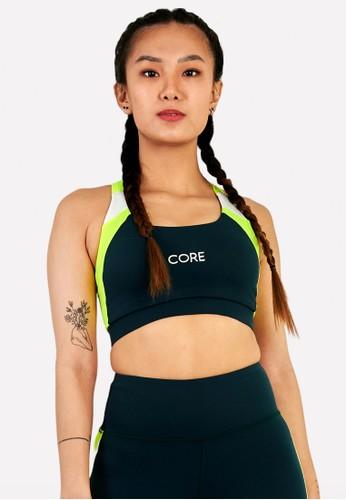 Corenation Active green Felicia Bra Premium - Green Teal / Neon Stabilo / White 0A582AA60B2387GS_1