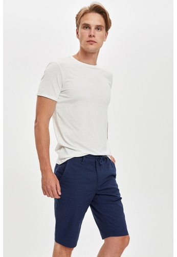 DeFacto blue Regular Fit Cotton Chino Bermuda Shorts 9142EAAA90379AGS_1