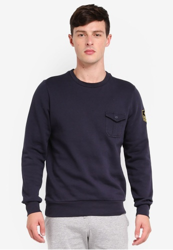 Brave Soul 海軍藍色 Crew Neck Sweatshirt 01163AA2AA29F2GS_1