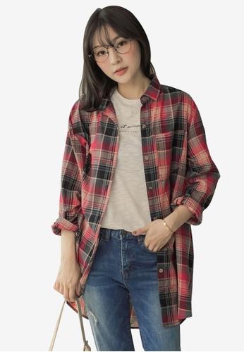 b2dc0b157f2dc Tokichoi red Long Checked Shirt D4F79AA92BB578GS 1