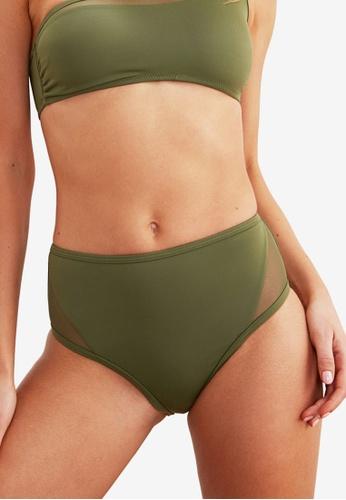 Trendyol green Mesh High Waist Bikini Bottom E6415US4533AF3GS_1