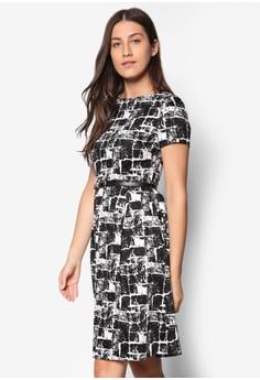 Collection 腰帶印花洋裝