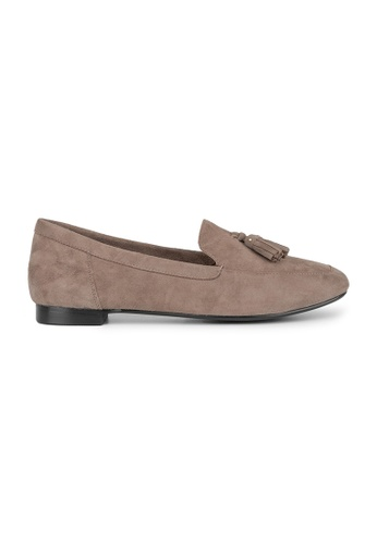 MAUD FRIZON brown Kid Suede Unlined Loafer With Tassels 2B59FSHA2623B9GS_1