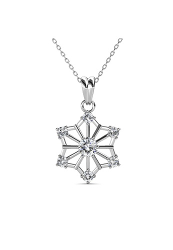 Her Jewellery Snowflakes Pendant -  Made with premium grade crystals from Austria HE210AC0GRBCSG_1