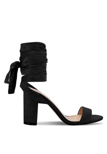 ZALORA black Tie Up Heel Sandals BB941SHC0FC290GS_1