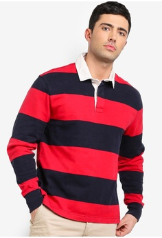 J.Crew red Gordon Stripe Rugby Shirt 7E2CEAA67FC469GS 1 e5f47e9f8