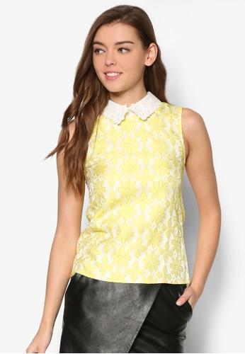 Daisy's 刺繡花卉蕾絲無袖上衣, zalora時尚購物網評價服飾, 上衣