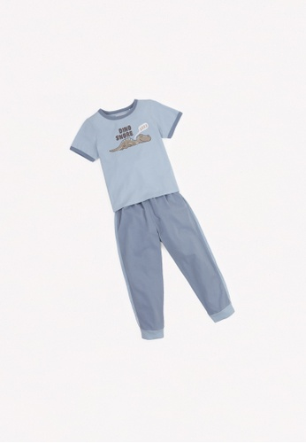 Gingersnaps blue Boys Track Pants Set BD3F3KAFFAFF7FGS_1