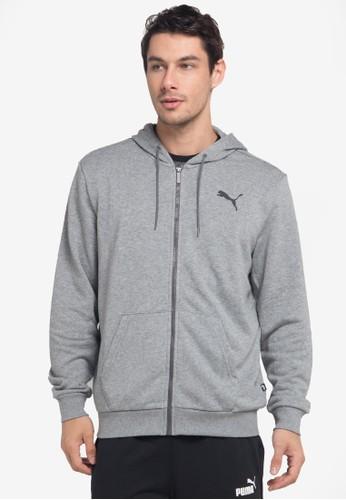 PUMA grey Sportstyle Core Essentials Hooded Jacket F13DAAAE77CC33GS_1