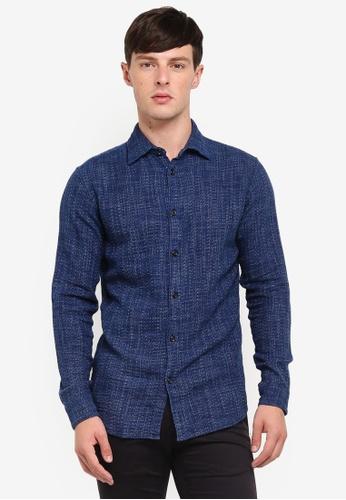 uk availability f1d5a a534e Long Sleeve Indigo Shirt