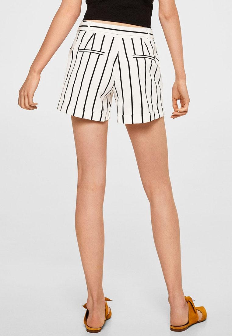 White Natural Blend Cotton Shorts Mango Belt wq7XF8B