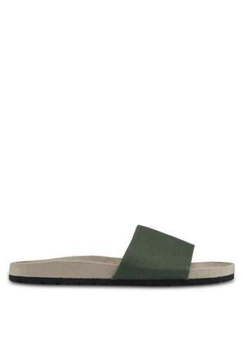 JAXON green Essential Faux Suede Pool Sliders 08508SHD518AF1GS_1