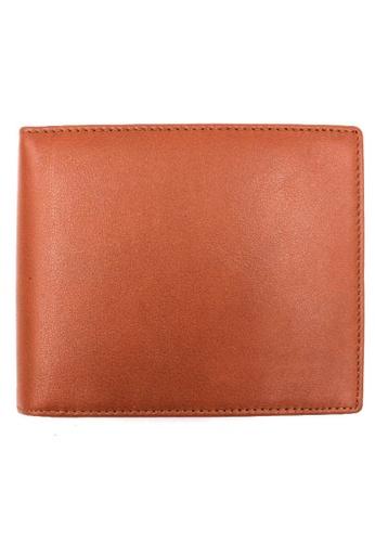 midzone brown TYON Leather Wallet MI949AC0RPN5MY_1