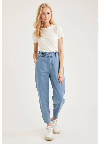 DeFacto blue High Waist Paperbag Jeans BDFD8AA9508297GS_1