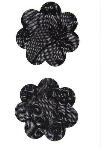LAVABRA Intimates black Invisible Bra - Lace Print Nipple Covers  5 pair Set LA387US65WOWID_1
