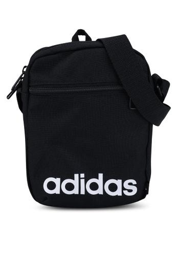 ADIDAS black essentials logo shoulder bag 1E4C1AC4F7CF06GS_1