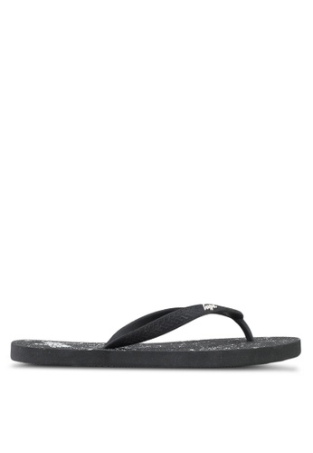 Just Hype black and white Speckle Flip Flops 2CDC6SHF1BEBC5GS_1