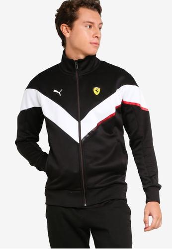 PUMA black Scuderia Ferrari MCS Men's Track Jacket FA8D5AAB980F2CGS_1