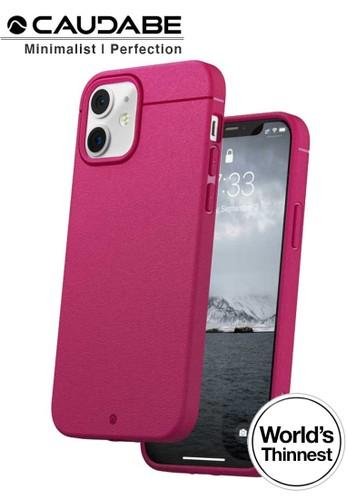 """Caudabe multi Case iPhone 12 Mini 5.4"""" - Caudabe Sheath Softcase Slim Casing - Magenta 81205ES7E2D2A8GS_1"""