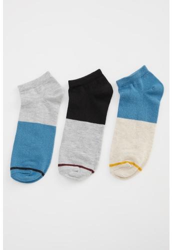 DeFacto multi Man 3-pieces Low Cut Socks 9B565AADFCB21CGS_1