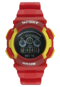 Sport Unisex Digital Watch WR30M