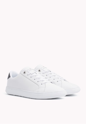 6cec6edca255 Tommy Hilfiger white ESSENTIAL LEATHER CUPSOLE ABFA2SHE52910FGS 1