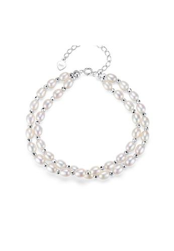 SUNRAIS silver Premium Color Stone Silver Simple Design Bracelet 711F8AC5D07F71GS_1
