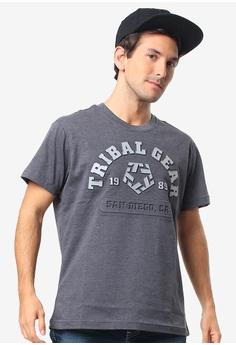 7a0de4901e Tribal grey Men s Embossed with Reflective Print Tshirt EBD31AA508E9D0GS 1