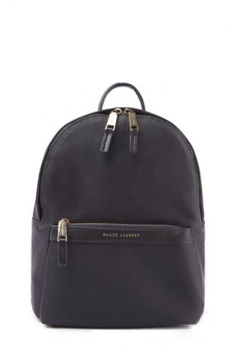 MARCO LAURENT black Lissome Nylon Backpack (Medium) 7CD52ACDFDCD93GS_1