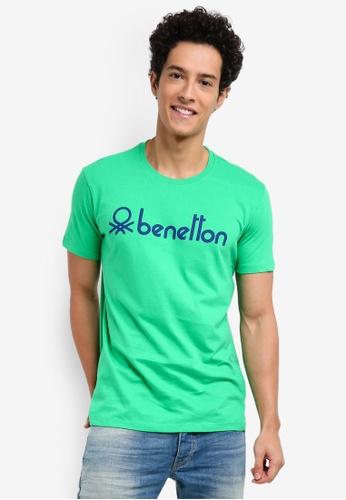 United Colors of Benetton 綠色 基本款Logo短袖T恤 36E32AA100960BGS_1
