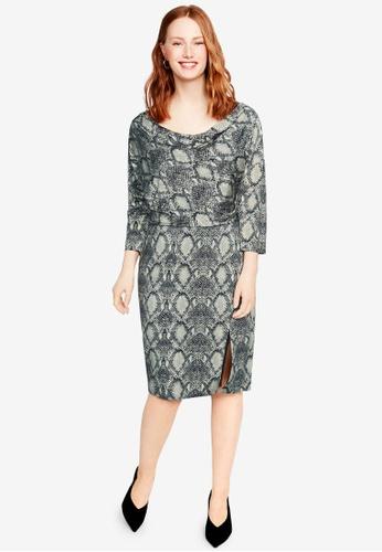 Shop Violeta by MANGO Plus Size Snake Print Dress Online on ZALORA ...