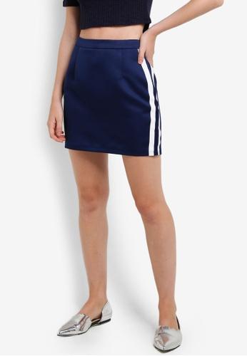 Something Borrowed navy Stripe Detail Mini Skirt 0496DAA5671596GS_1