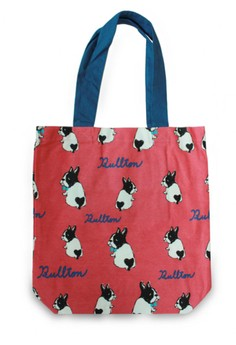 Japanese Style Bullton Dog Combo Color Strap A4 Tote Bag