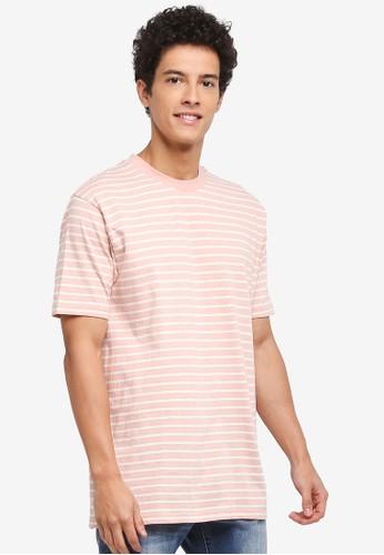 Factorie pink Original Striped Tee 1C365AA7A0A0A9GS_1