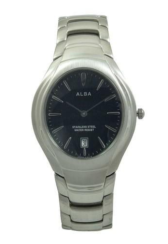 Alba silver ALBA Jam Tangan Pria - Silver Black - Stainless Steel - AVKC47 AL383AC49XRIID_1