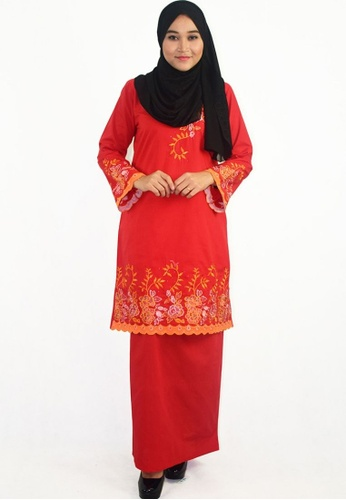 Denai Boutique red Baju Kurung Afeeya 1A31EAAC70B6BDGS_1