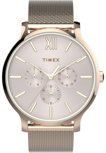 TIMEX gold Timex Transcend 38mm - Rose Gold-Tone Case & Mesh Band (TW2T74500) 289E9ACFEF0C44GS_1