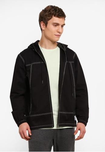 JAXON black Lightweight Woven Jacket 53450AAB4EACA5GS_1