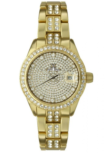 ToyWatch gold Metallic Stones Collection Full Pave Gold Aluminium Bracelet Ladies Watch TO276AC17CPUMY_1