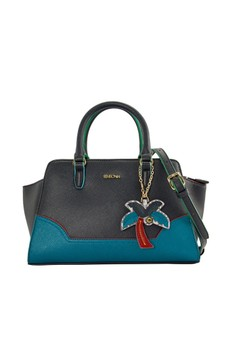 SEMBONIA  SEMBONIA Synthetic Leather Satchel Bag (Blue)