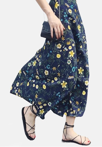 Twenty Eight Shoes navy VANSA Floral One-piece Skirt VCW-Sk8.F 87936AAECCC0F6GS_1