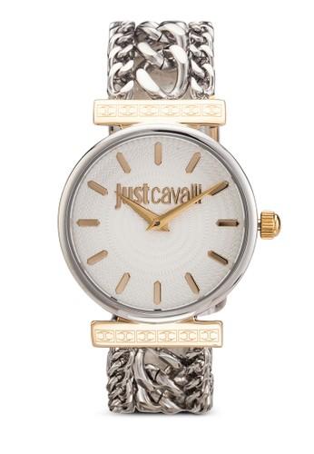 R7253578501 Just Cesprit hkouture 鍊飾不銹鋼圓錶, 錶類, 飾品配件