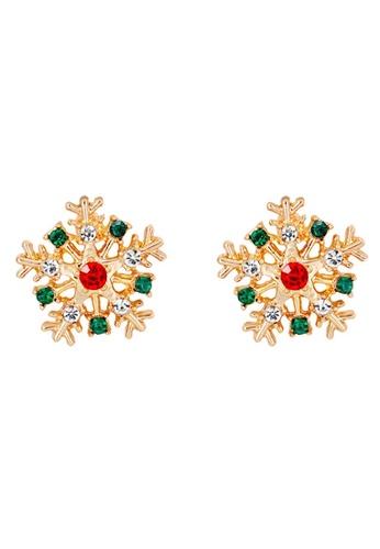 Glamorbit white Snowflakes Festive Earring 59723ACABB2ECFGS_1